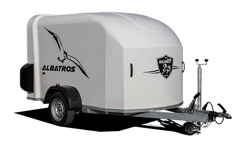 Gesloten Polyester aanhangwagen VB Albatros